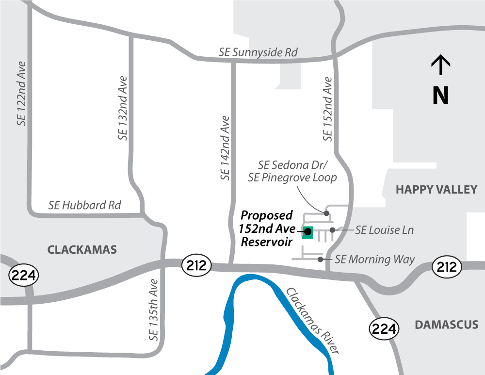 152nd Ave Reservoir Project Location